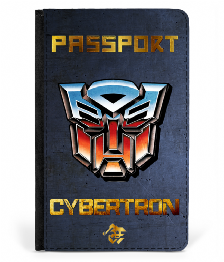 Cybertron Faux Leather Printed Passport Cover Inspired by Transformers